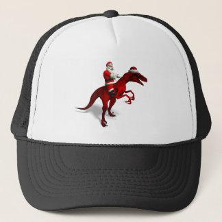 Santa Claus On Dino Trucker Hat