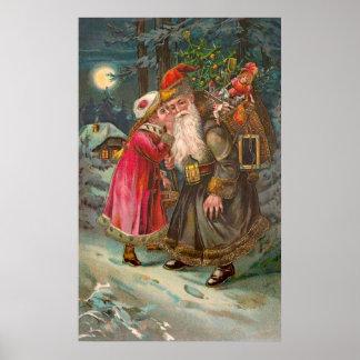 Santa Claus On His Way 1 Print