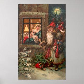Santa Claus On His Way 4 Posters