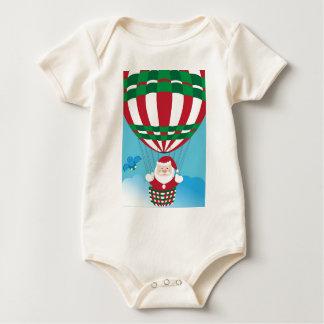 Santa Claus on hot air balloon Baby Bodysuit