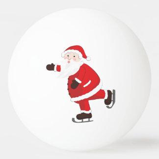 Santa Claus on ice skates Ping Pong Ball