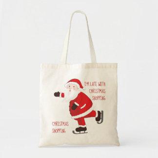 Santa Claus on ice skates Tote Bag