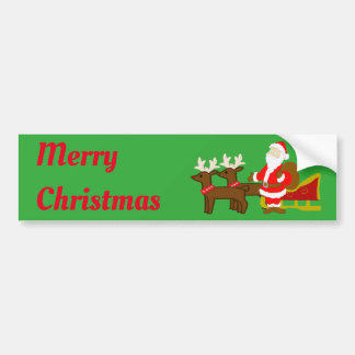 santa claus on the christmas sleigh bumper sticker