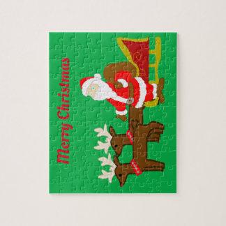 santa claus on the christmas sleigh jigsaw puzzle