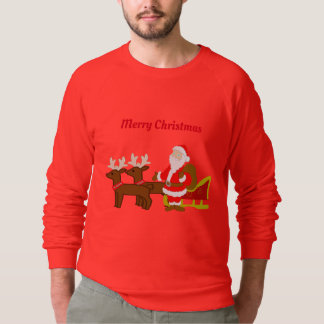 santa claus on the christmas sleigh sweatshirt
