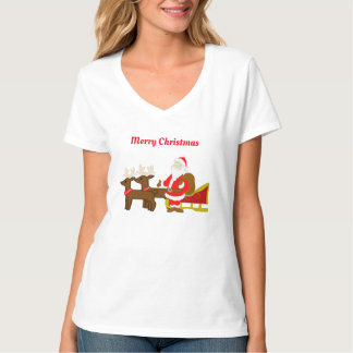 santa claus on the christmas sleigh T-Shirt