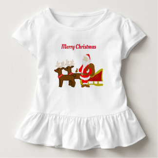 santa claus on the christmas sleigh toddler t-shirt