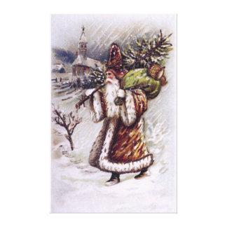 Santa Claus on the Way Gallery Wrap Canvas