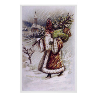Santa Claus on the Way Posters