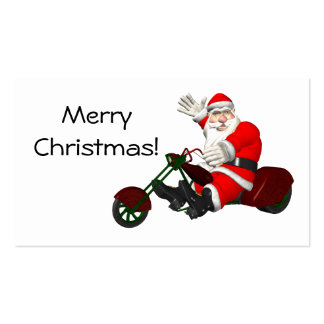 Santa Claus On Trike Pack Of Standard Business Cards