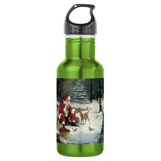 Santa claus painting - christmas art 532 ml water bottle