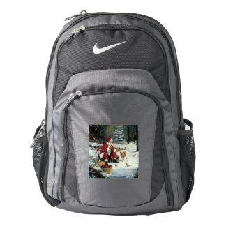 Santa claus painting - christmas art backpack