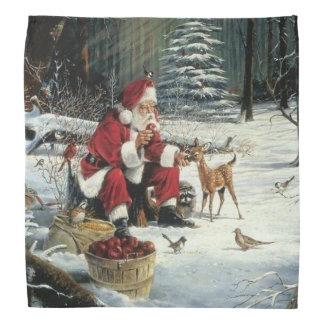 Santa claus painting - christmas art bandana