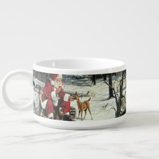 Santa claus painting - christmas art bowl