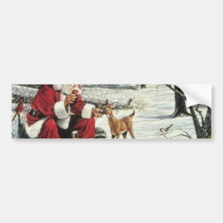 Santa claus painting - christmas art bumper sticker