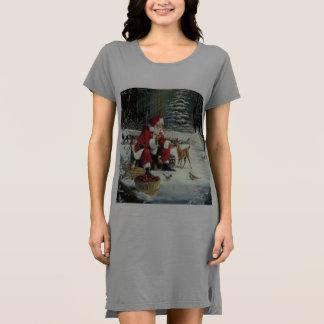 Santa claus painting - christmas art dress