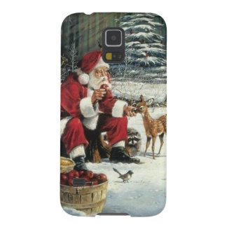 Santa claus painting - christmas art galaxy s5 case