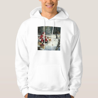 Santa claus painting - christmas art hoodie