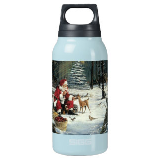 Santa claus painting - christmas art insulated water bottle