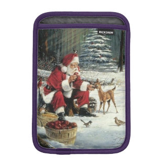 Santa claus painting - christmas art iPad mini sleeve