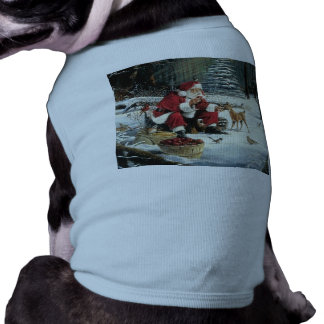 Santa claus painting - christmas art shirt