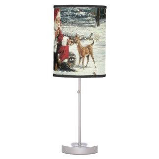 Santa claus painting - christmas art table lamp