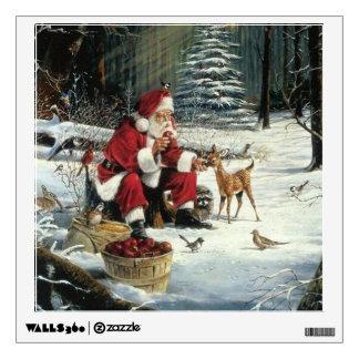 Santa claus painting - christmas art wall decal