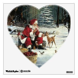 Santa claus painting - christmas art wall sticker