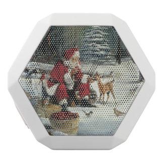 Santa claus painting - christmas art white bluetooth speaker