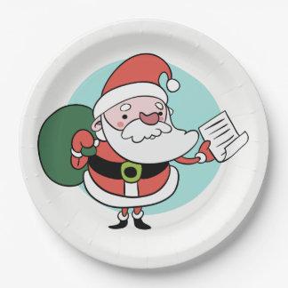 Santa Claus paper plates
