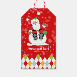 Santa Claus party * choose background color Pack Of Gift Tags