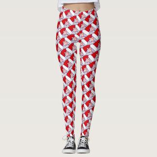 Santa Claus Pattern Leggings