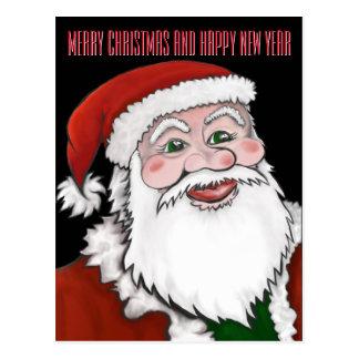 Santa Claus Personalize Christmas Postcard