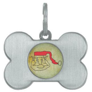 Santa Claus Pet Name Tag