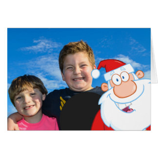Santa Claus Photo Bomb Card