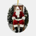 Santa Claus Photo Holiday Tree Ornaments