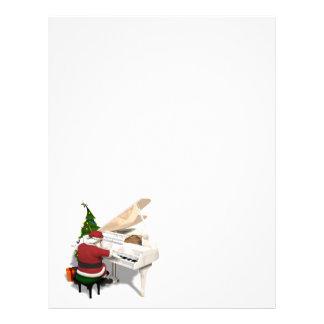 Santa Claus Pianist Personalized Letterhead