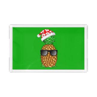 Santa Claus Pineapple Acrylic Tray