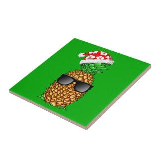 Santa Claus Pineapple Tile