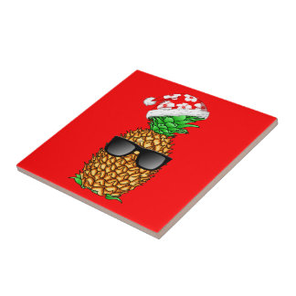 Santa Claus Pineapple Tile