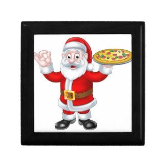 Santa Claus Pizza Christmas Cartoon Character Trinket Boxes