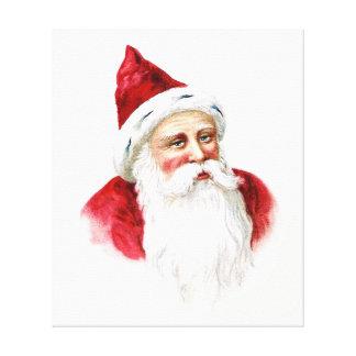 Santa Claus Portrait Canvas Prints