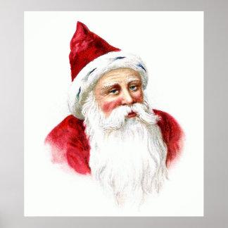 Santa Claus Portrait Poster
