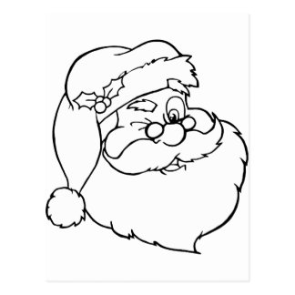 Santa claus post card