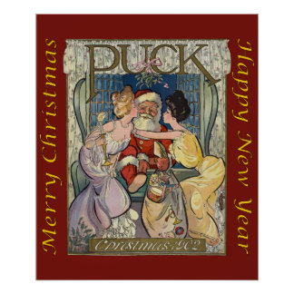Santa Claus ~ Puck Magazine Cover ~ 12/03/1902 Poster