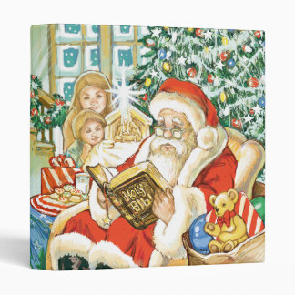 Santa Claus Reading the Bible on Christmas Eve Binders
