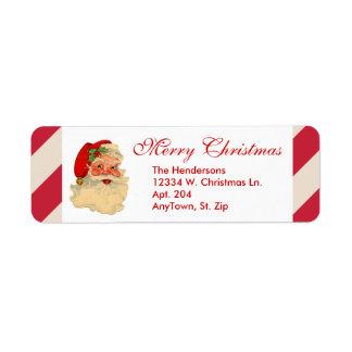 Santa Claus Red Candy Cane Stripe Custom Christmas