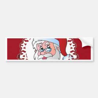 santa Claus red frame Bumper Sticker