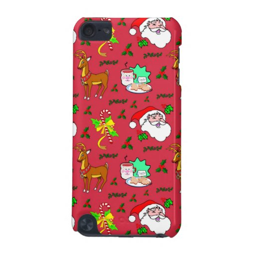 Santa Claus, Reindeer, Candy Canes, Holly, Cookies iPod Touch 5G Case