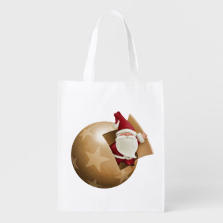 Santa Claus Reusable Grocery Bag